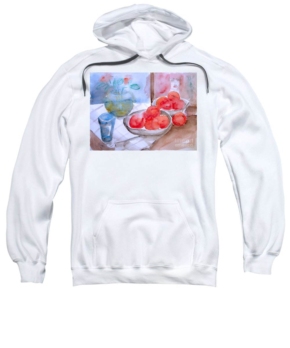 Fruit Sweatshirt featuring the painting Expectation by Jasna Dragun