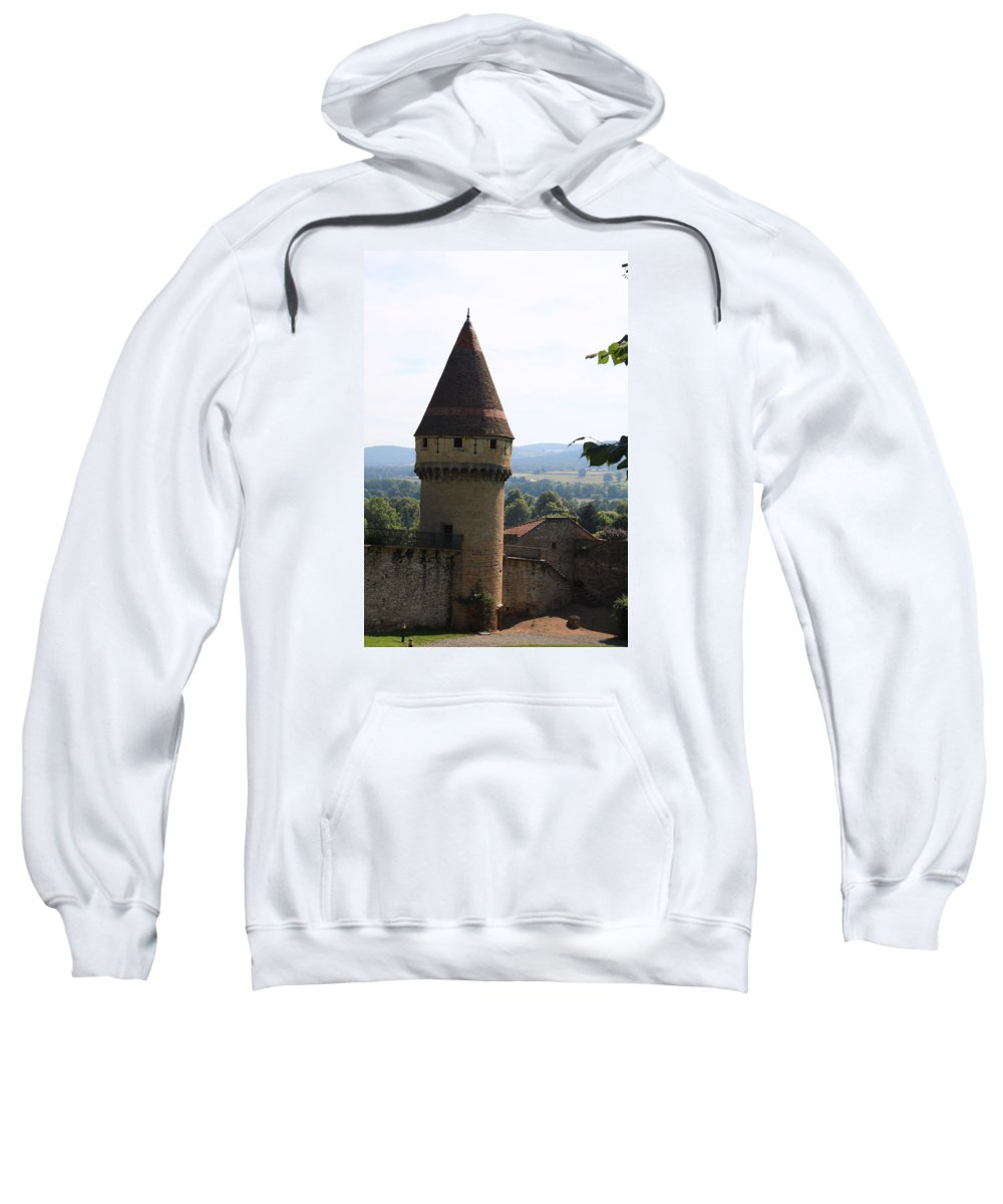Watch Tower Sweatshirt featuring the photograph Fabry Tower - Cluny - Burgundy by Christiane Schulze Art And Photography
