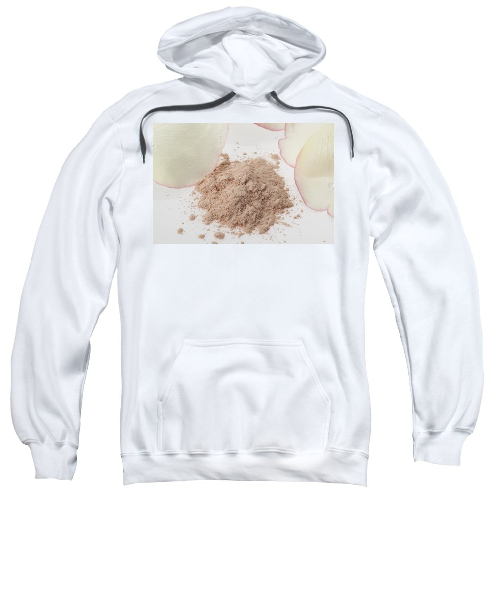 White Sweatshirt featuring the photograph Face Powder by Stefania Levi
