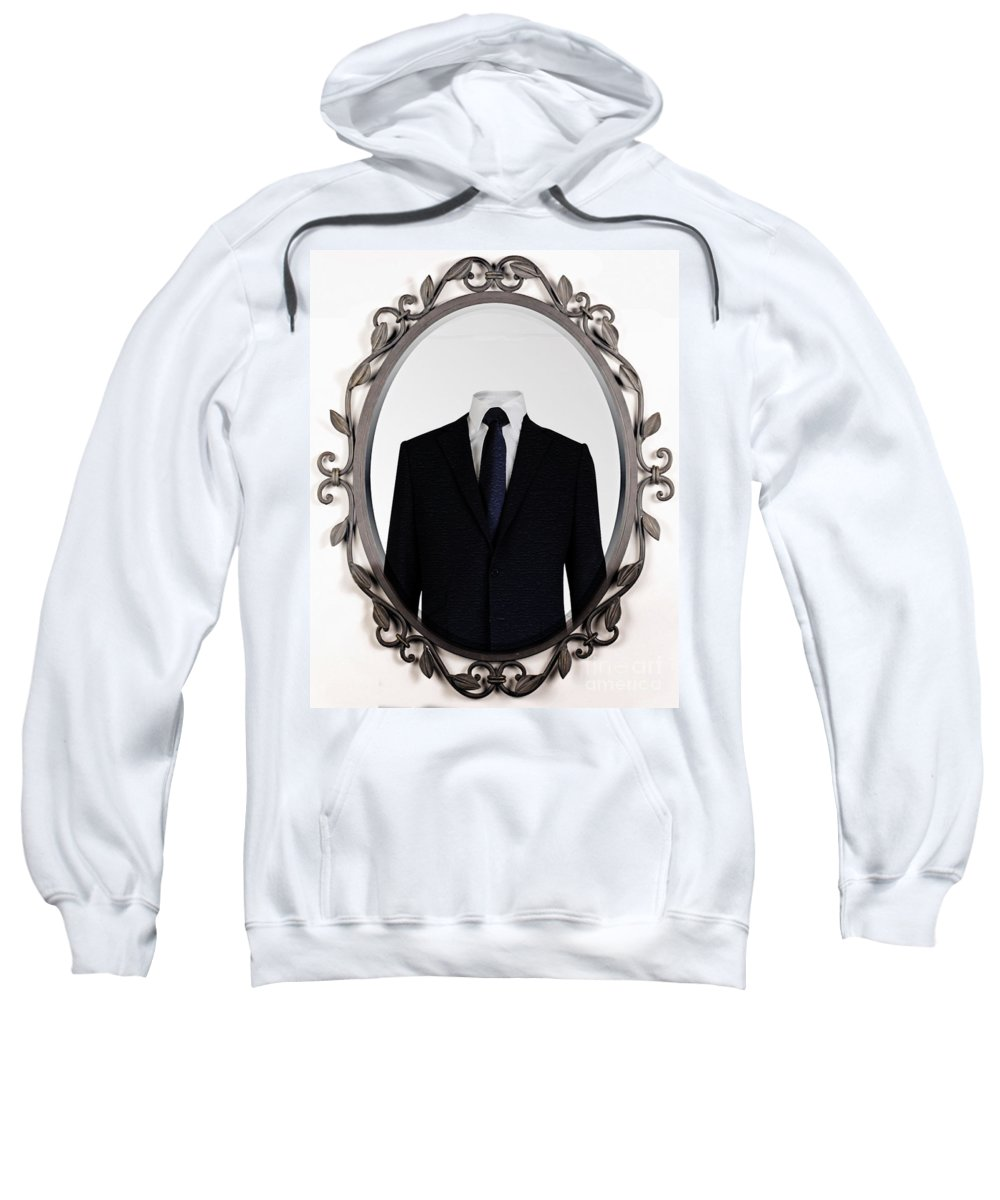 Mirror Sweatshirt featuring the photograph Faceless by Ben Yassa