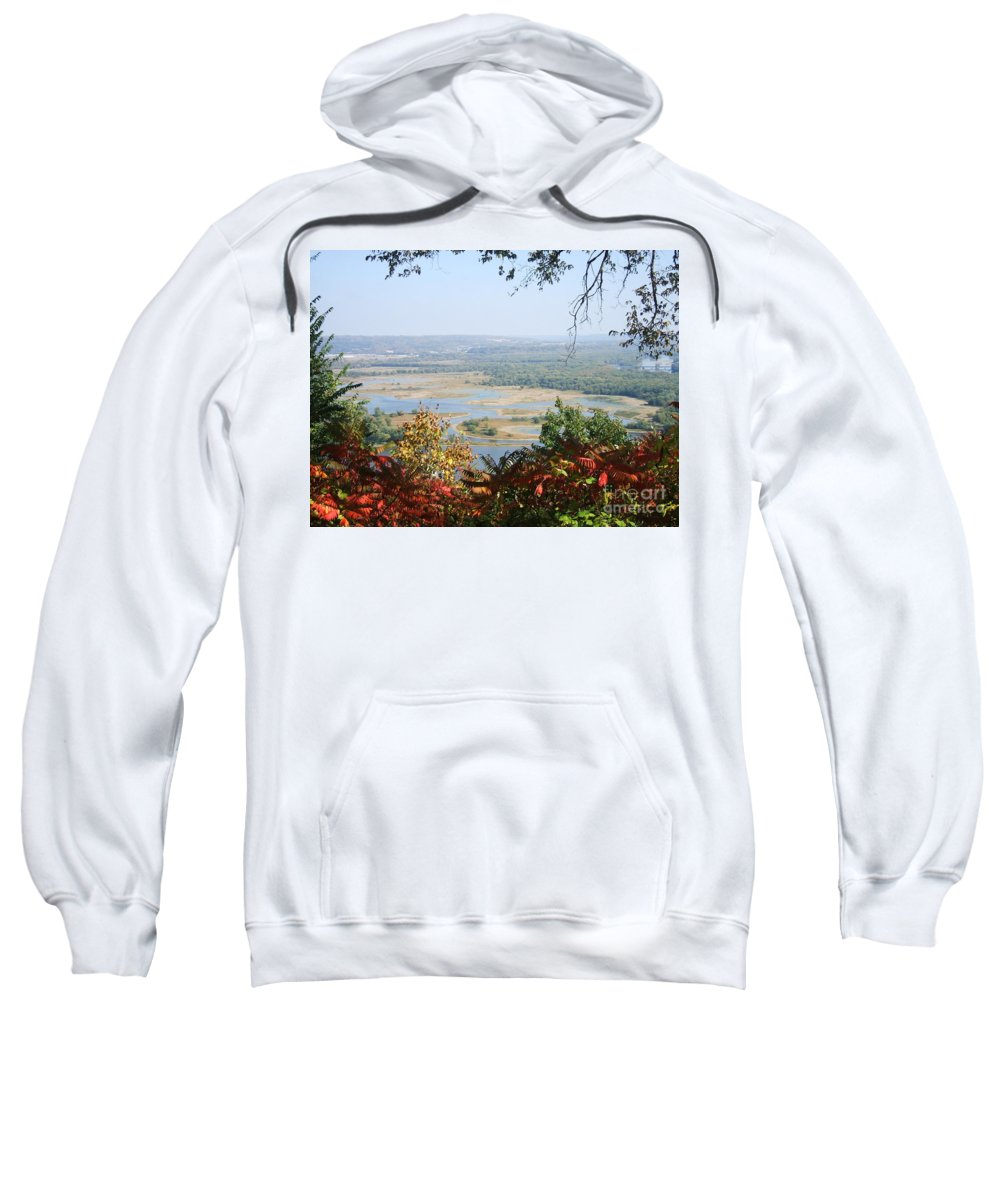 Trees Leaves Sweatshirt featuring the photograph Fall Framed Islands by Minding My Visions by Adri and Ray