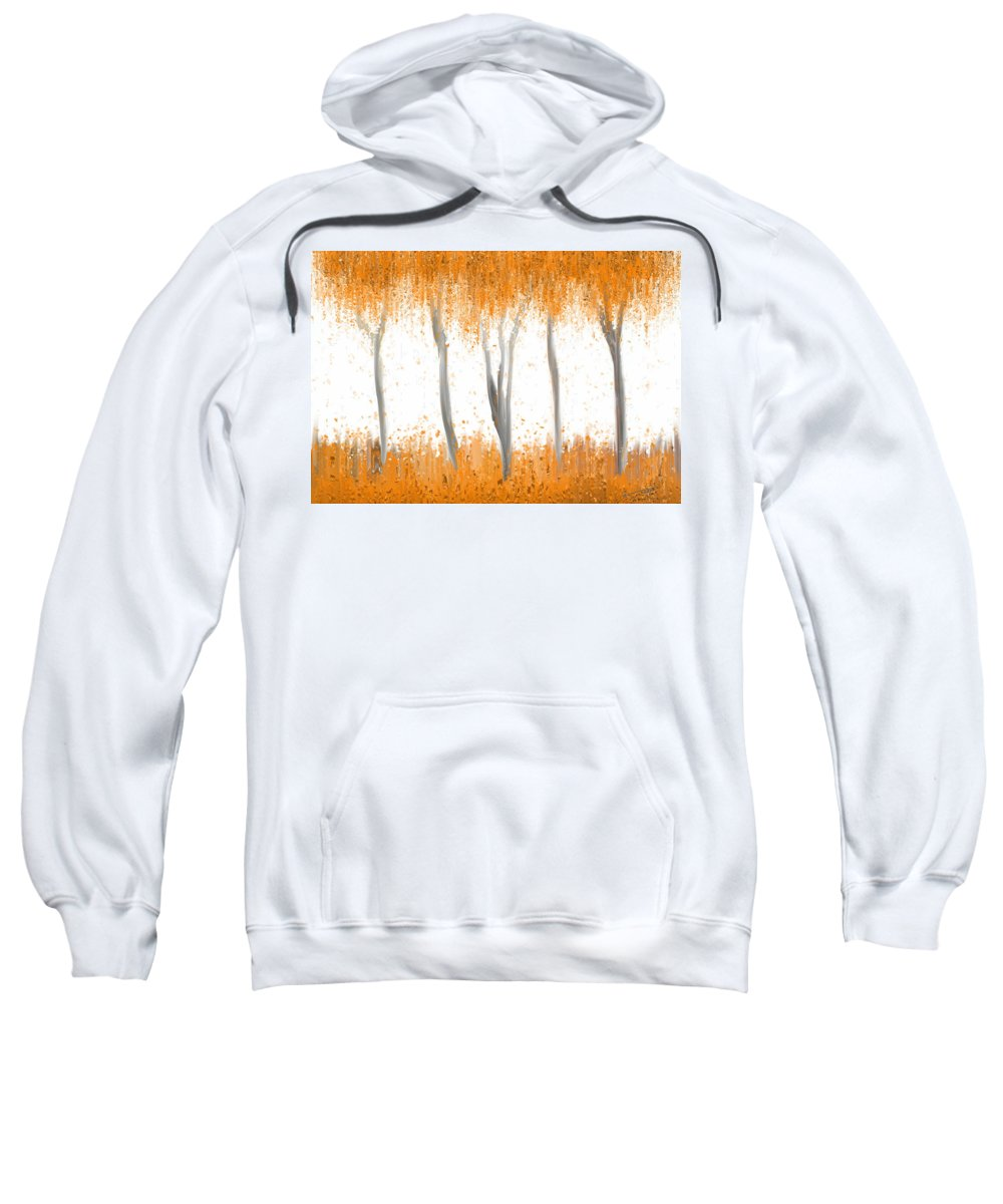 Design Sweatshirt featuring the painting Fall by Kume Bryant
