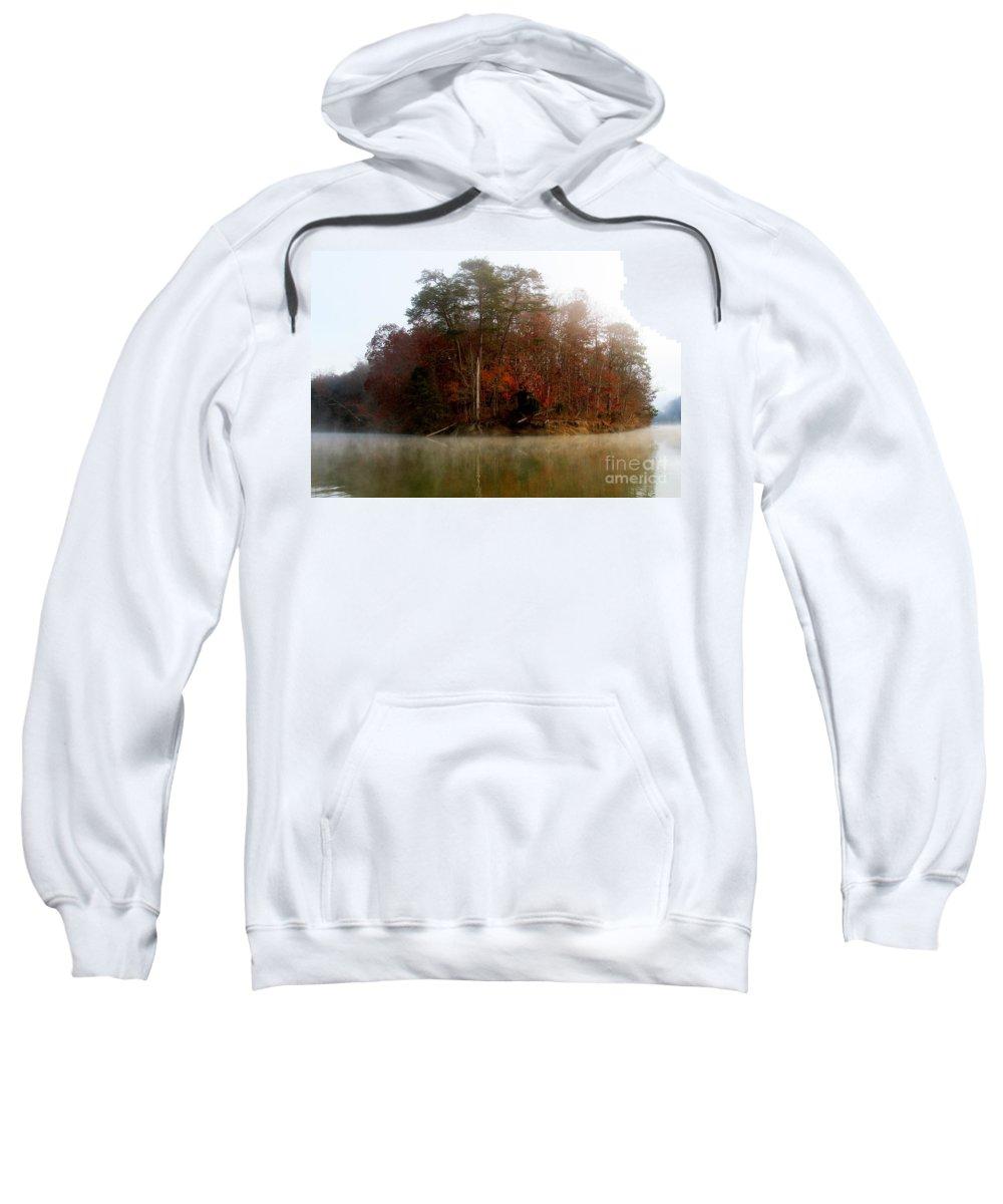 Lake Sweatshirt featuring the photograph Fall On Melton Hill Lake by Douglas Stucky