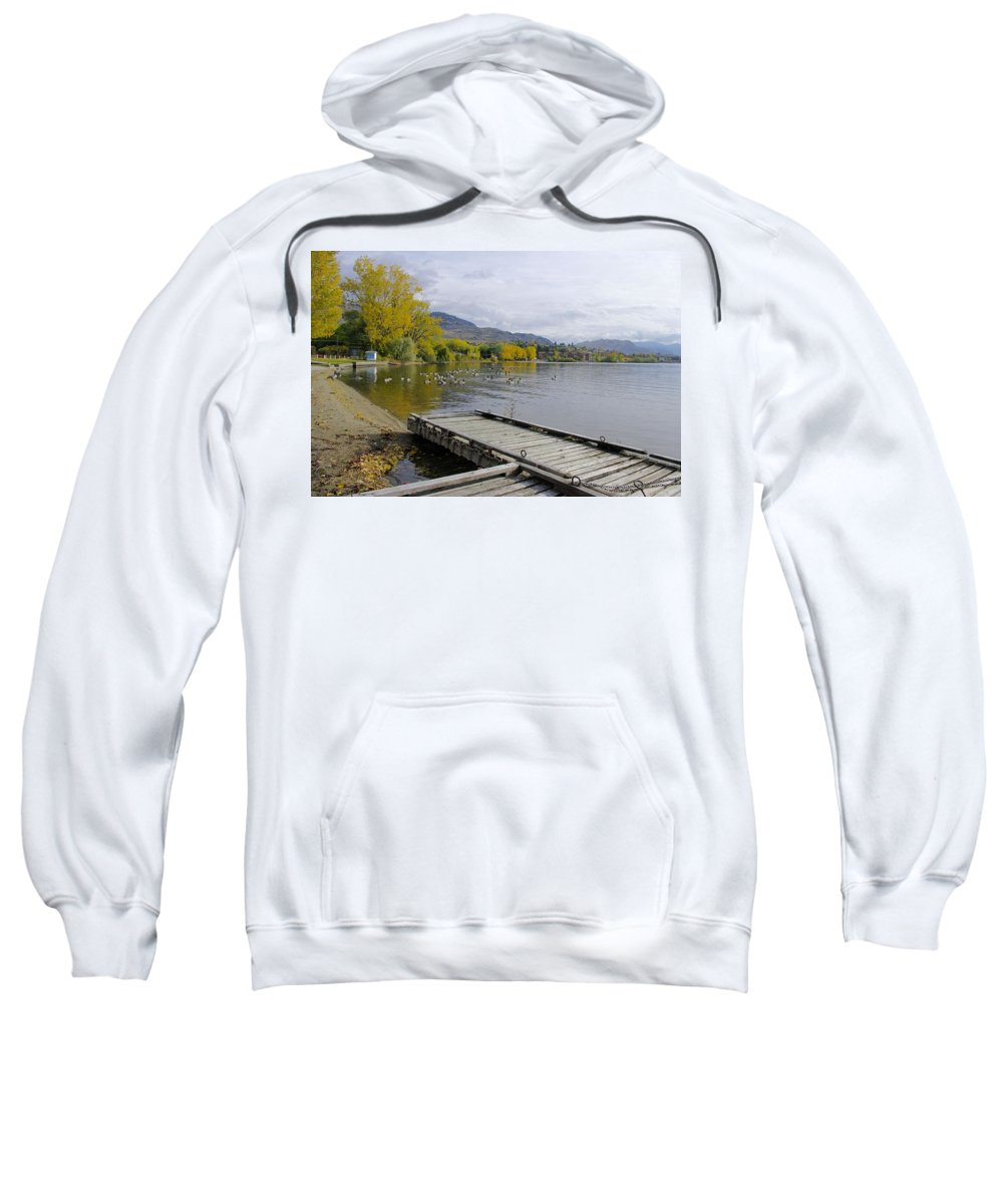 Canada Sweatshirt featuring the photograph Fall Pitstop by John Greaves