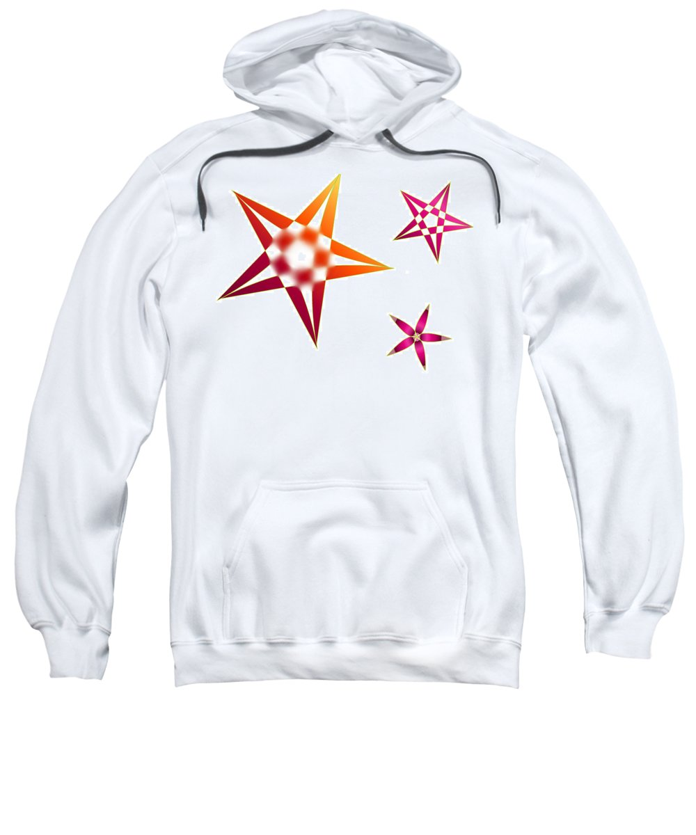 Stars Sweatshirt featuring the painting Family Of Stars by Bruce Nutting
