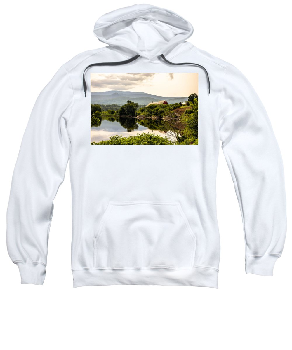 Connecticut River Sweatshirt featuring the photograph Farm By The Connecticut by Sherman Perry