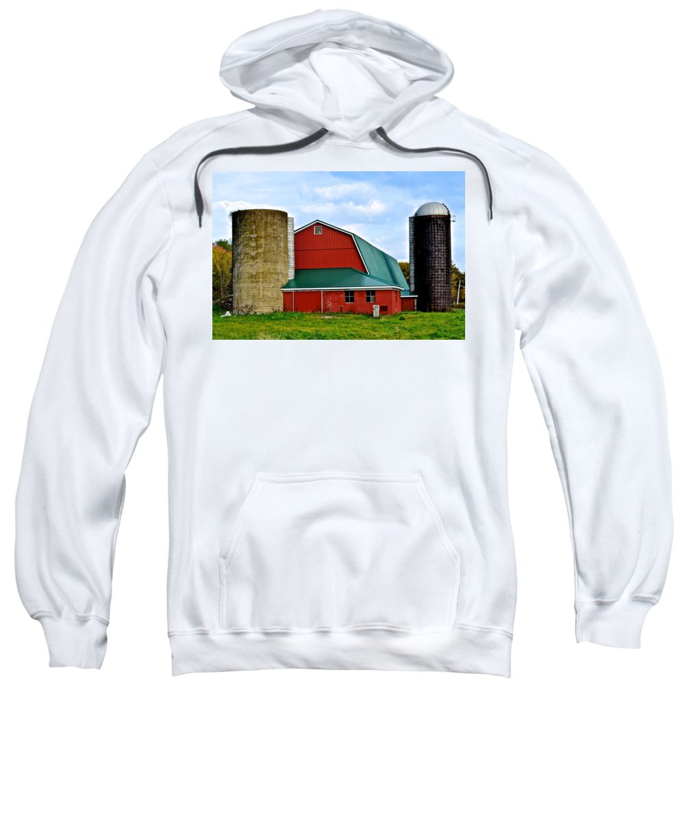 Farm Sweatshirt featuring the photograph Farming by Frozen in Time Fine Art Photography