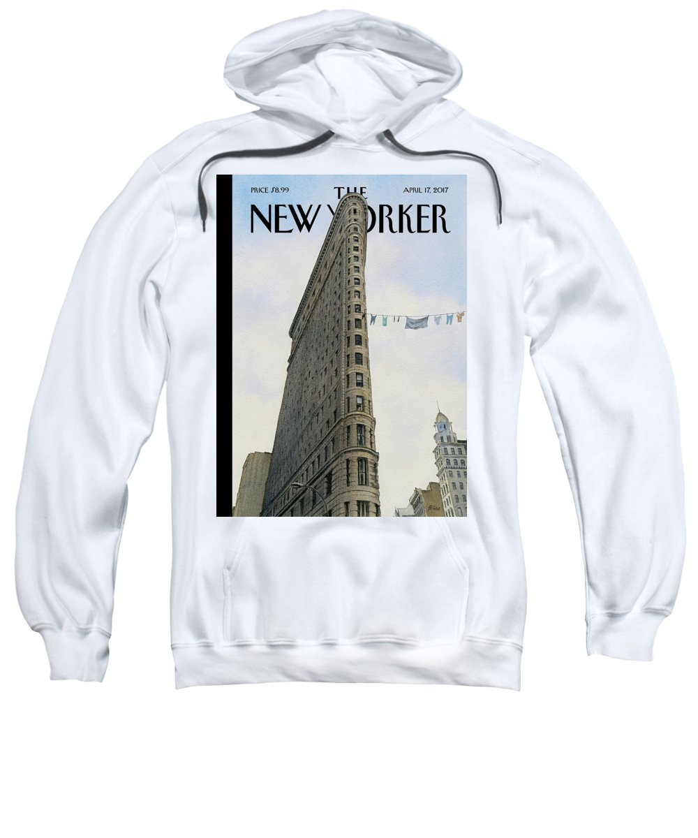 Fashion District Sweatshirt featuring the painting Fashion District by Harry Bliss