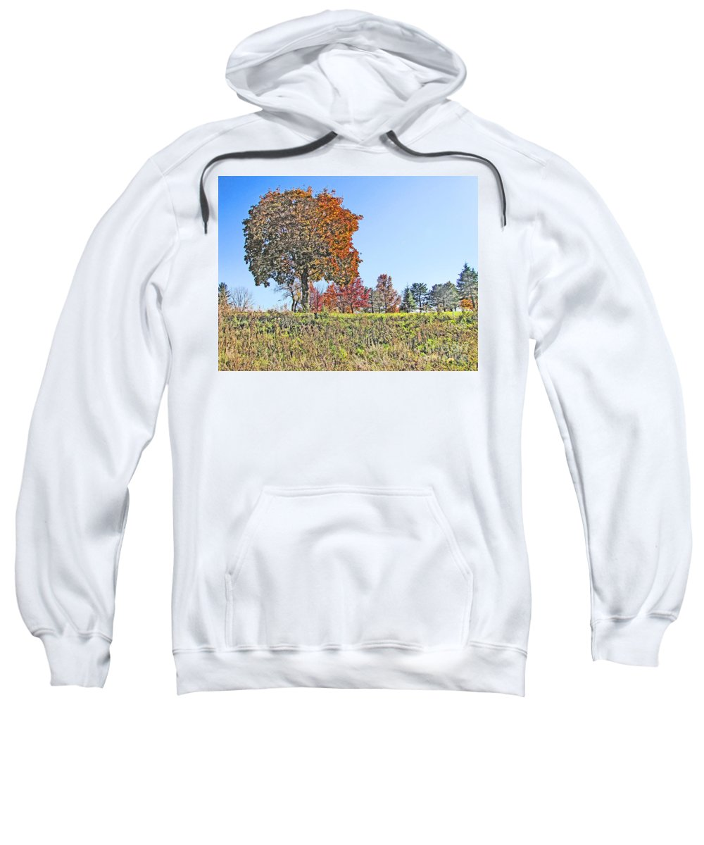 Fall Sweatshirt featuring the photograph Favoring The Fall Colors by Minding My Visions by Adri and Ray