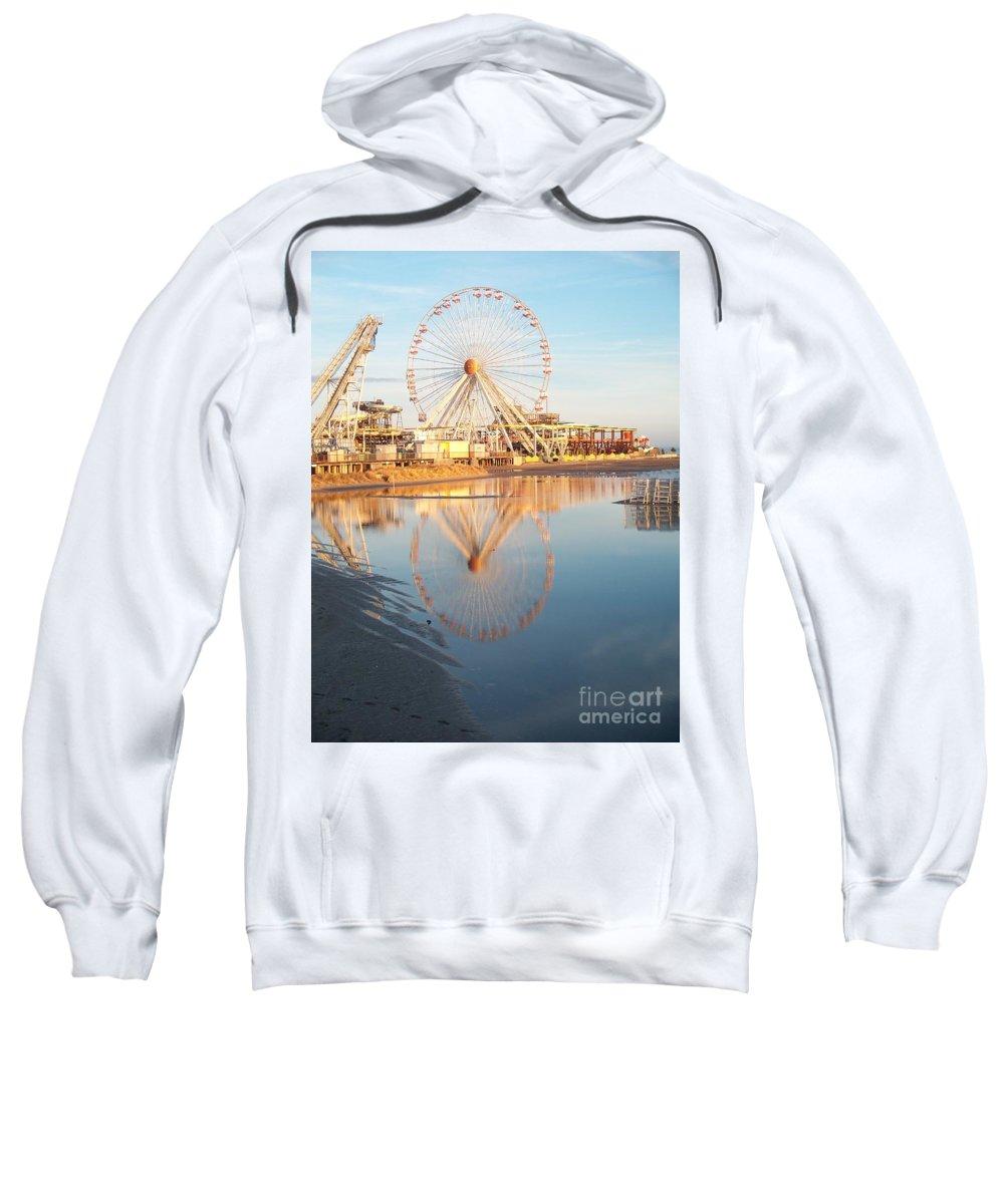 Ferris Wheels Sweatshirt featuring the photograph Ferris Wheel Jersey Shore 2 by Eric Schiabor