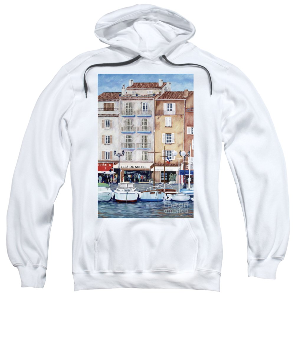 St. Tropez Sweatshirt featuring the painting Filles Du Soleil by Danielle Perry