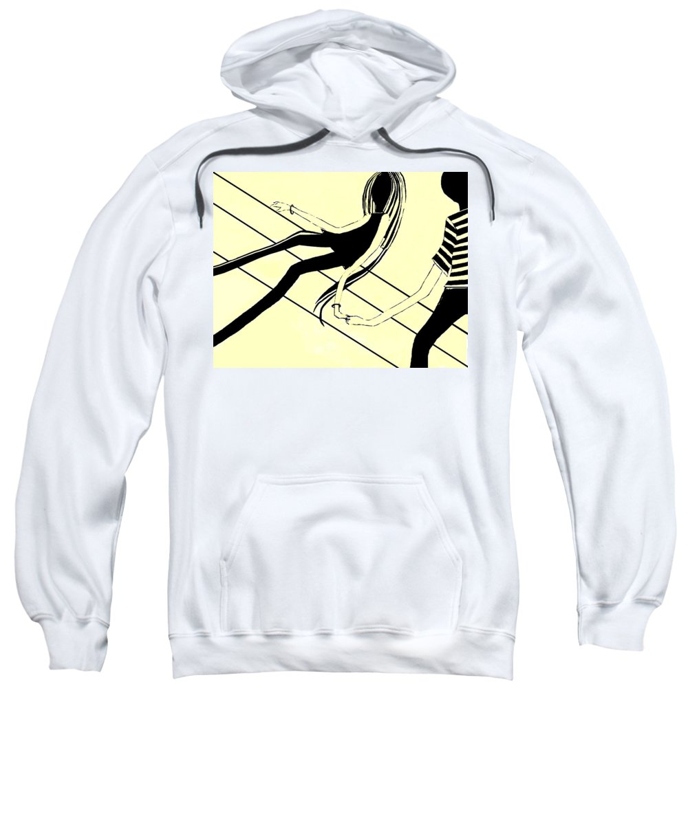 Fineartamerica.com Sweatshirt featuring the painting First Love  Number 3 by Diane Strain