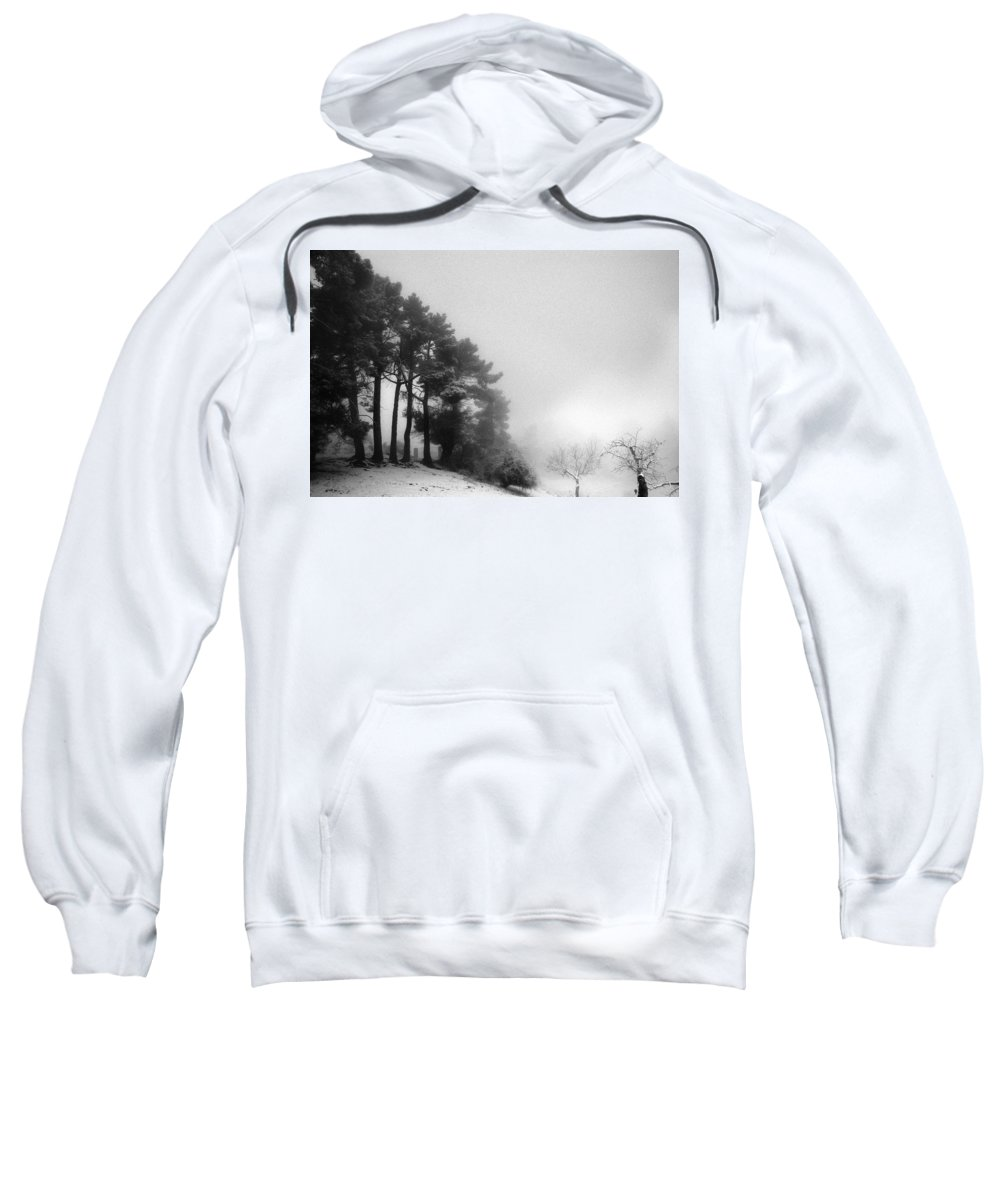 Black And White Sweatshirt featuring the photograph Five Trees by Guido Montanes Castillo