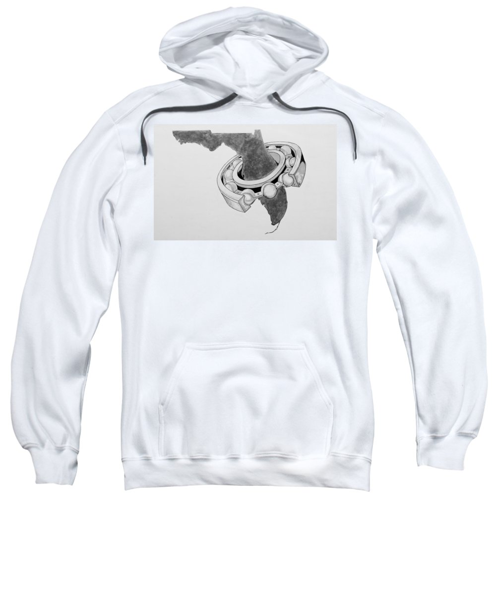 Sweatshirt featuring the photograph Fla Sprocket O by Rob Hans