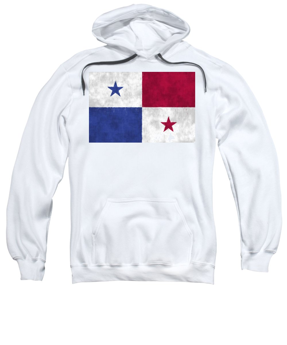Central America Sweatshirt featuring the digital art Flag Of Panama by World Art Prints And Designs