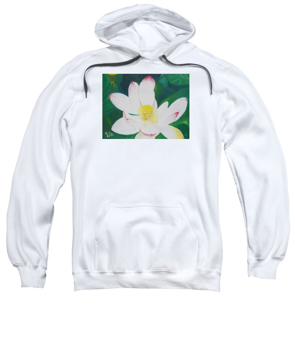 Flower Nectar Sweatshirt featuring the painting Flower Nectar by Ramadan Agolli