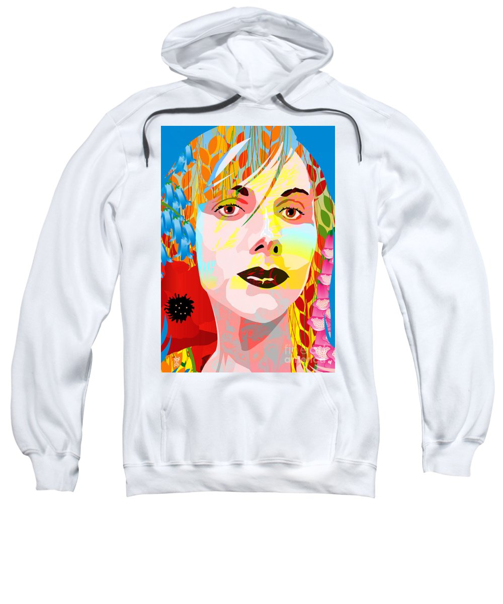 Autumn Sweatshirt featuring the painting Flowers In Their Hair by Neil Finnemore