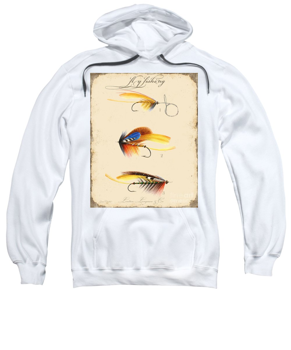 Casting Flies Sweatshirt featuring the digital art Fly Fishing-jp2094 by Jean Plout