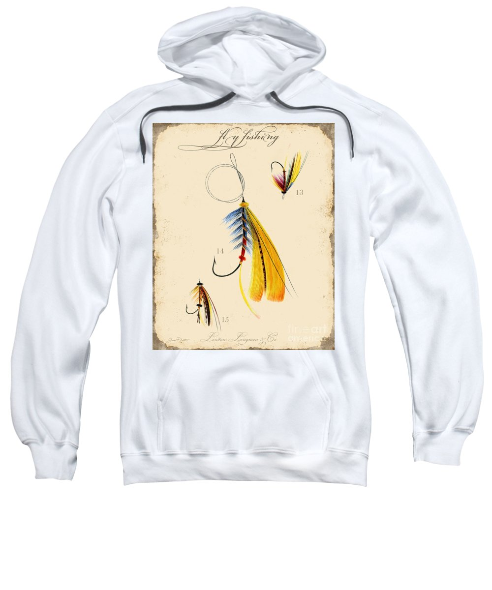 Casting Flies Sweatshirt featuring the digital art Fly Fishing-jp2098 by Jean Plout