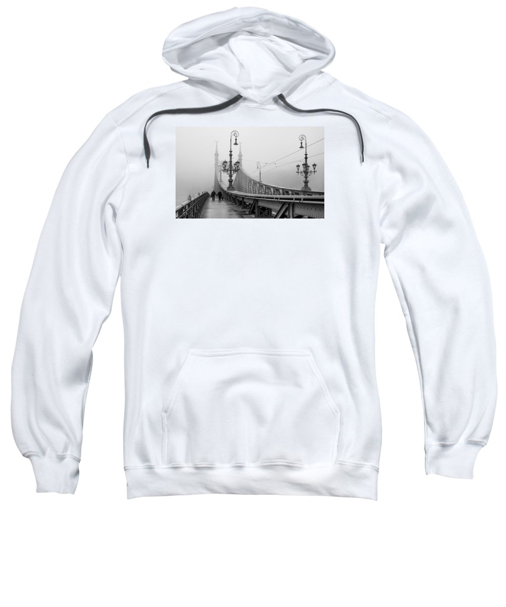 Hungary Sweatshirt featuring the photograph Foggy Day In Budapest by Ayhan Altun