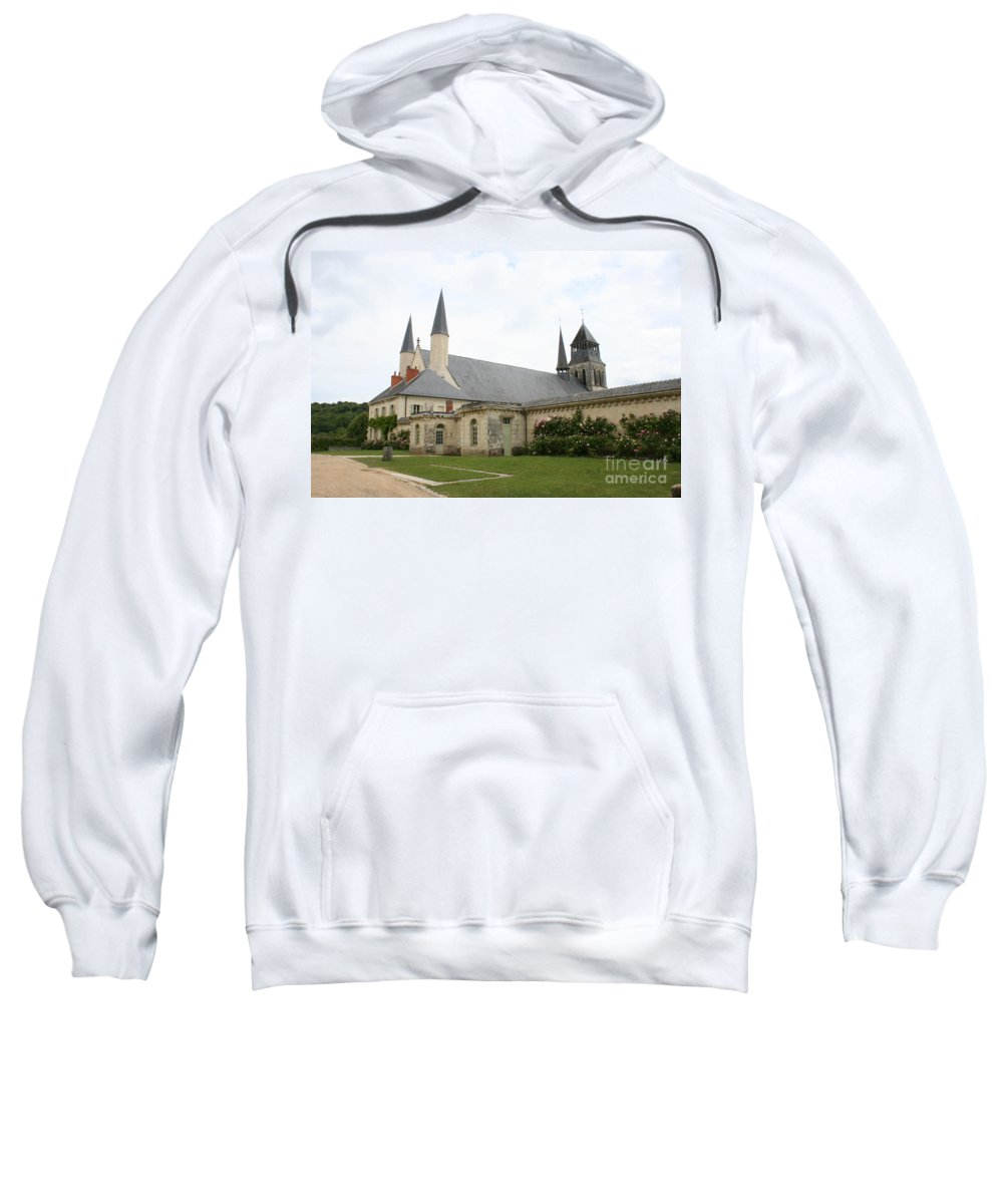 Cloister Sweatshirt featuring the photograph Fontevraud Abbey - France by Christiane Schulze Art And Photography
