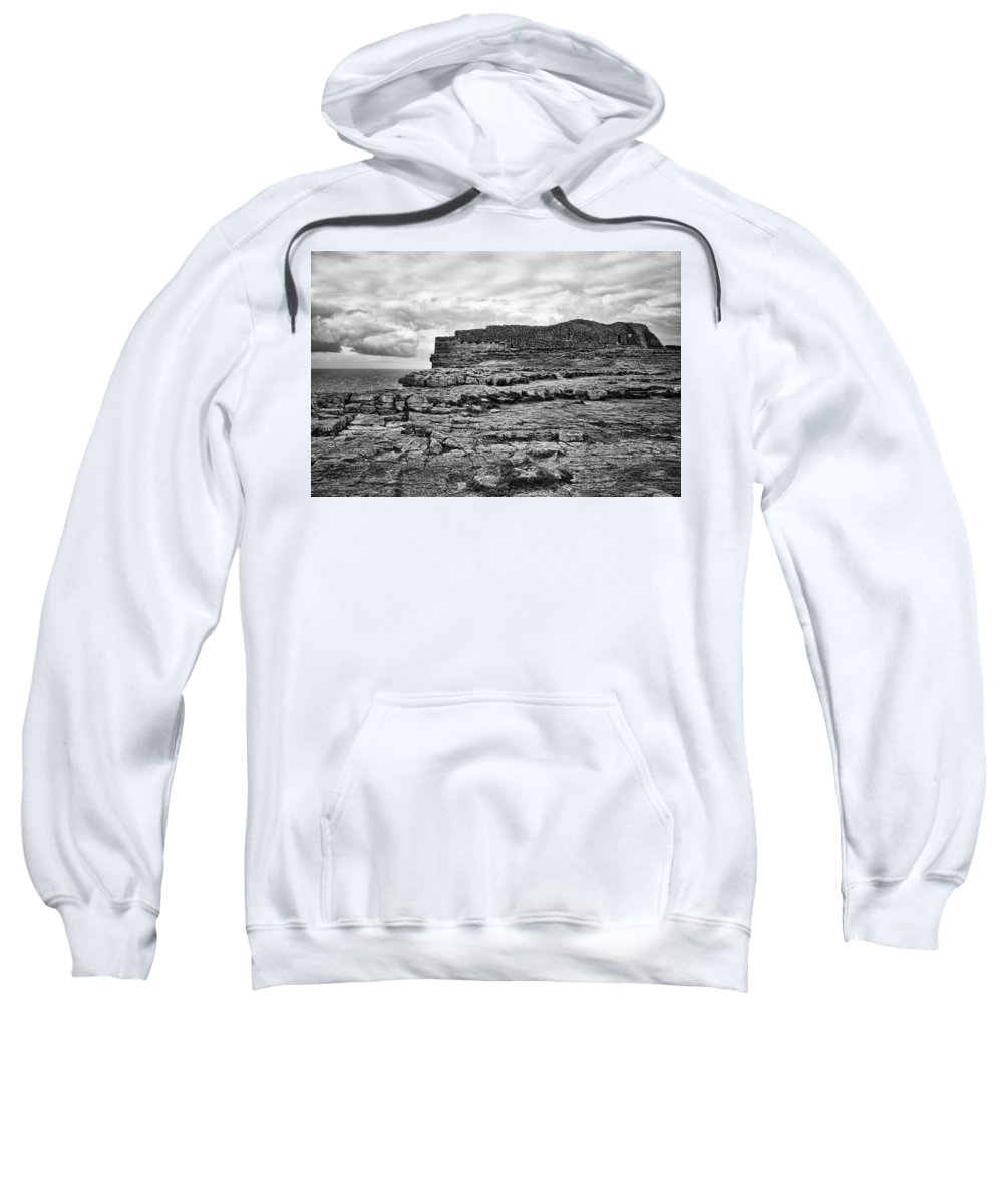 Celtic Sweatshirt featuring the photograph Fortress Aran Islands by Hugh Smith
