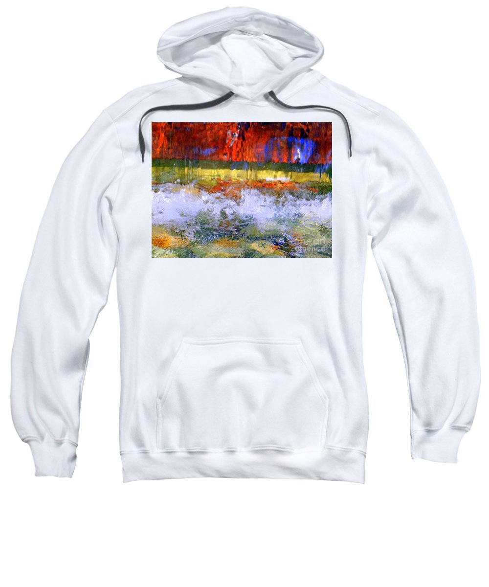 Abstract Sweatshirt featuring the photograph Fountain Splash by Ed Weidman