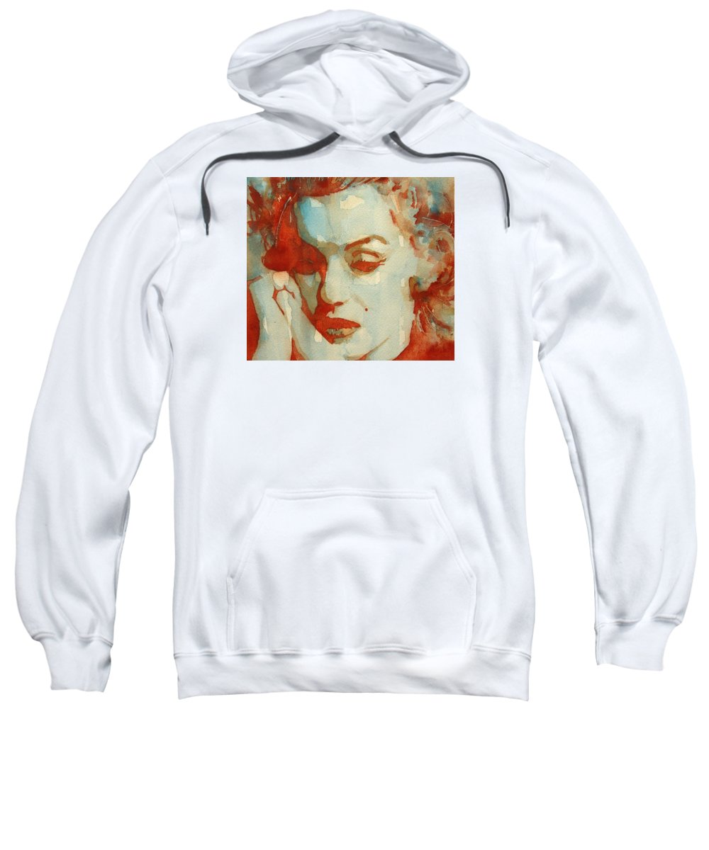 Marilyn Monroe Sweatshirt featuring the painting Fragile by Paul Lovering