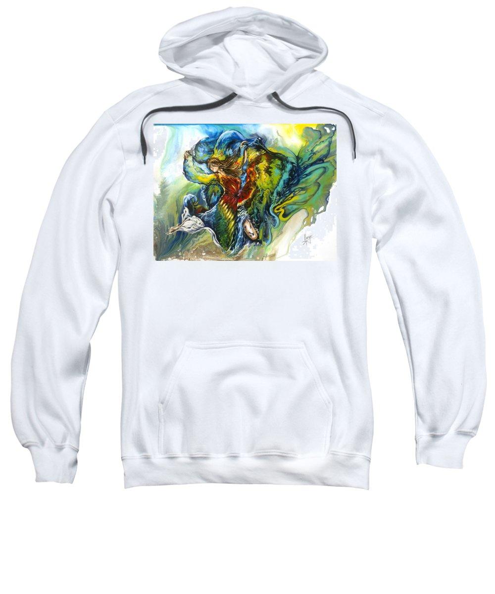 Freedom Sweatshirt featuring the painting Freedom by Karina Llergo