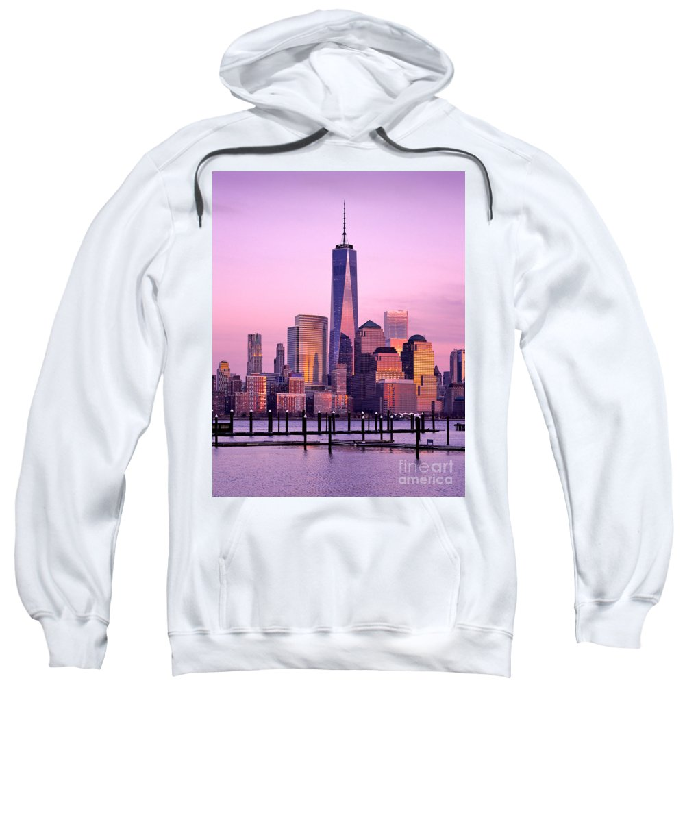 8 Spruce Street Sweatshirt featuring the photograph Freedom Tower Nyc by Jerry Fornarotto