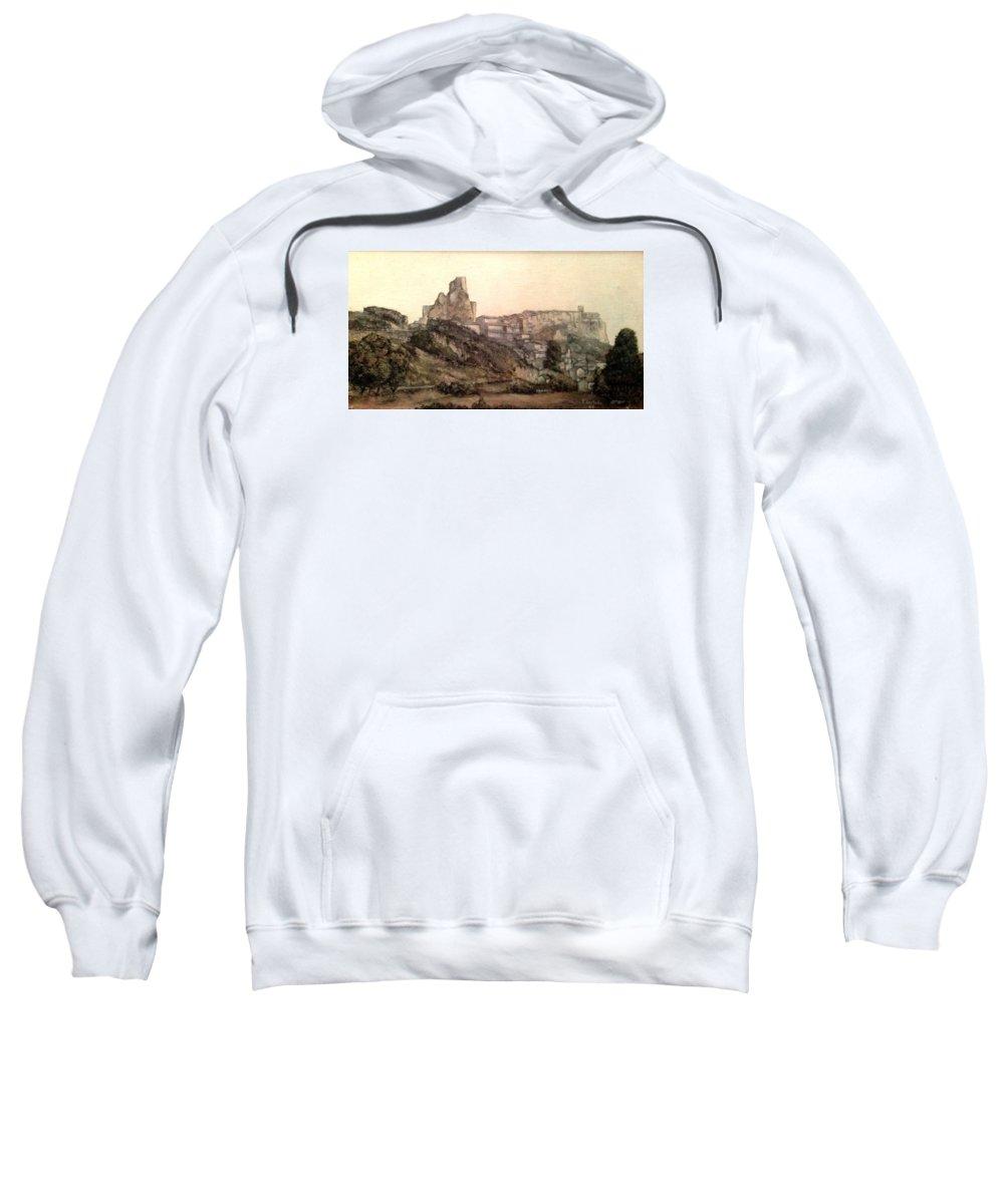 Frias Sweatshirt featuring the painting Frias-Burgos by Tomas Castano