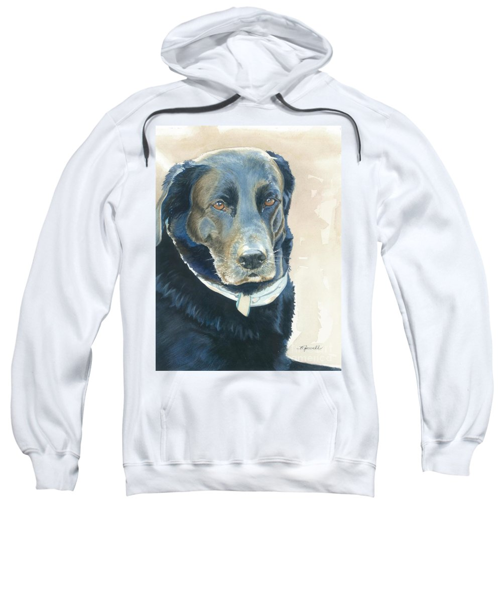 Water Color Paintings Sweatshirt featuring the painting Friend Forever by Barbara Jewell