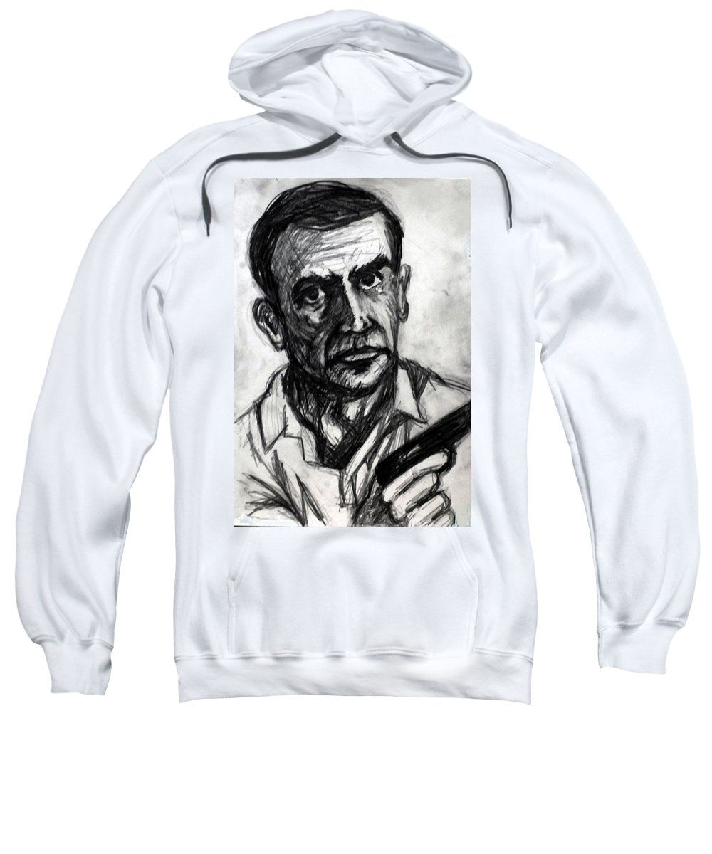 James Sweatshirt featuring the drawing From Russia With Love by Paul Sutcliffe