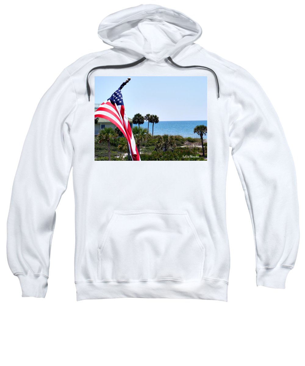 Beach Sweatshirt featuring the photograph From Sea To Shining Sea by Sylvia Thornton