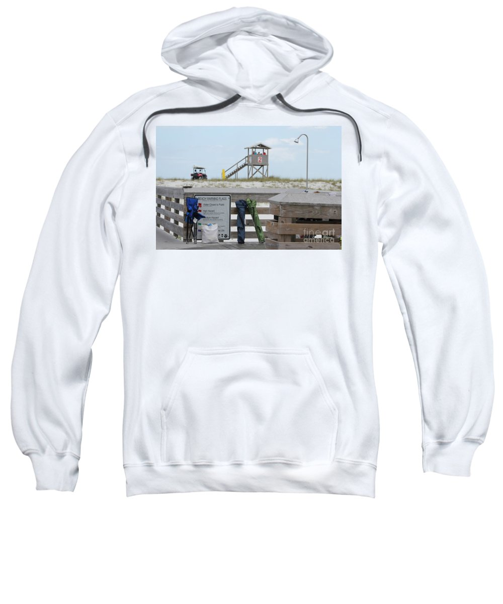 Ft.walton Beach Sweatshirt featuring the photograph Full Day At The Beach by Michelle Powell