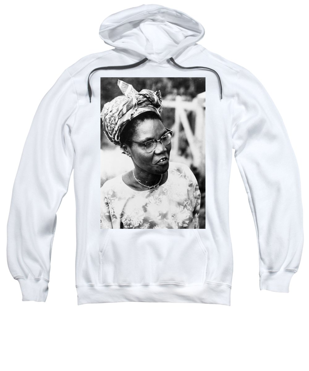 1960 Sweatshirt featuring the photograph Funmilayo Ransome-kuti (1900-1977) by Granger