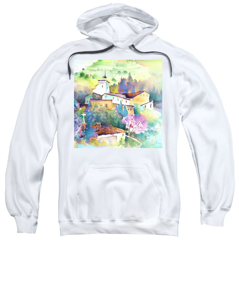 Travel Sweatshirt featuring the painting Gatova Spain 02 by Miki De Goodaboom