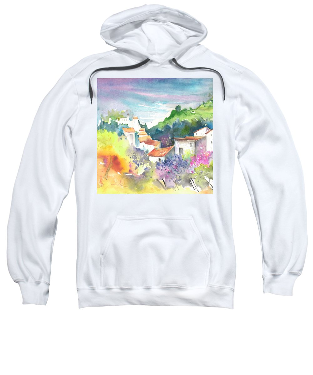 Spain Sweatshirt featuring the painting Gatova Spain 03 by Miki De Goodaboom