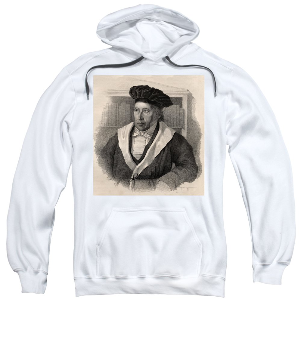 German Philosopher; Male; Portrait; Hegelian Dialectic; George; C12 Sweatshirt featuring the drawing Georg Wilhelm Friedrich Hegel by German School