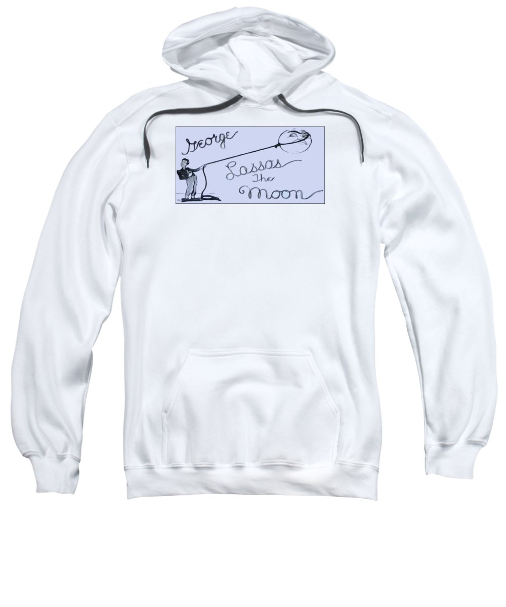 George Lassos The Moon Sweatshirt featuring the digital art George Lassos The Moon by Dan Sproul