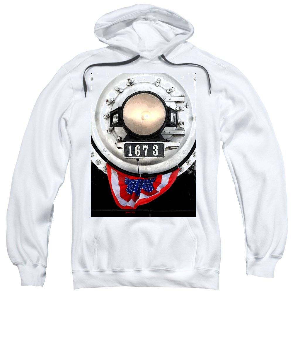 Railroad Sweatshirt featuring the photograph Ghost Engine by Joe Kozlowski
