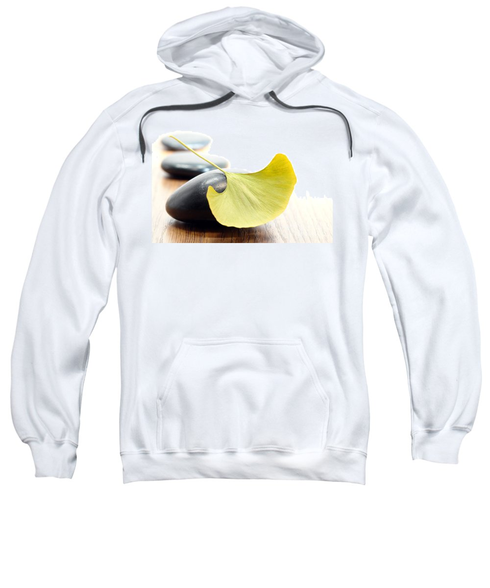 Gingko Sweatshirt featuring the photograph Ginkgo Leaf by Olivier Le Queinec