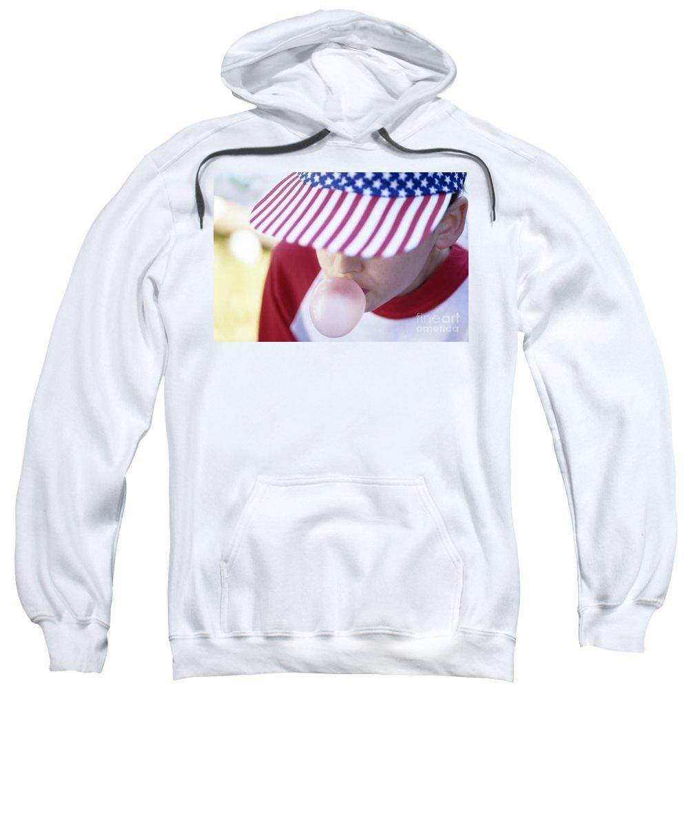 American Dream Sweatshirt featuring the photograph Girl American Baseball Cap by Jim Corwin