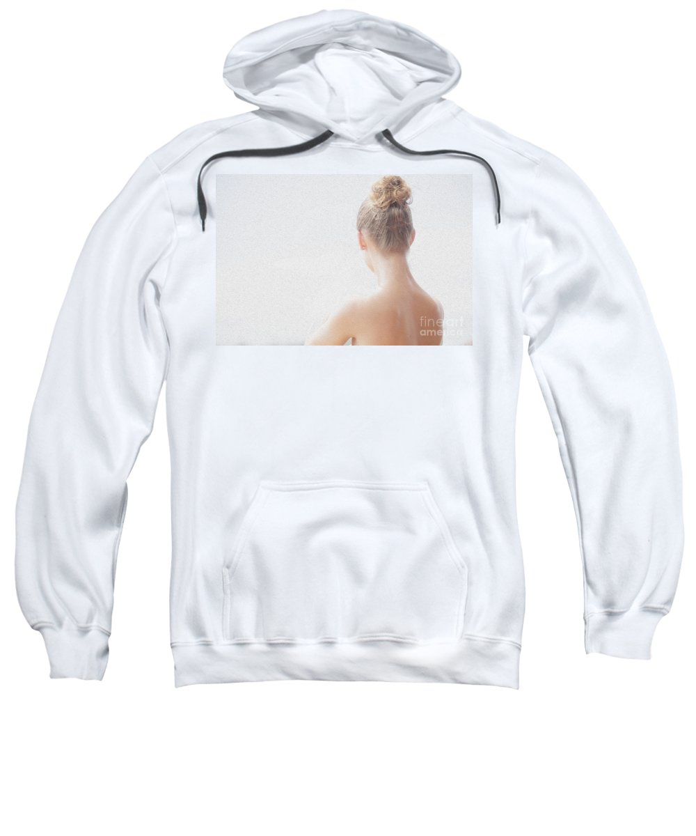 Long Necked Girl Sweatshirt featuring the photograph Girl by Sheila Smart Fine Art Photography