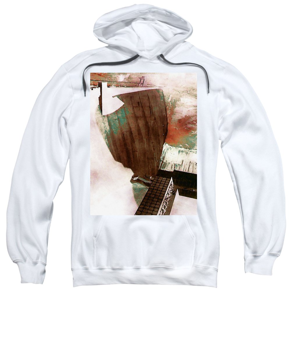 Digital Sweatshirt featuring the digital art Glen Canyon Dam by David Hansen