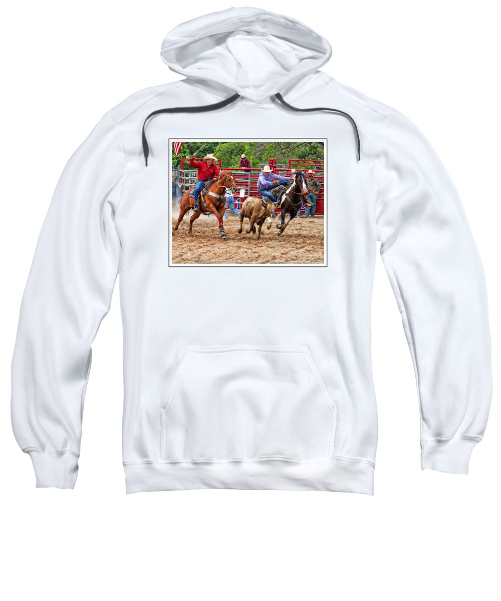 Rodeo Sweatshirt featuring the photograph Going Down by Alice Gipson