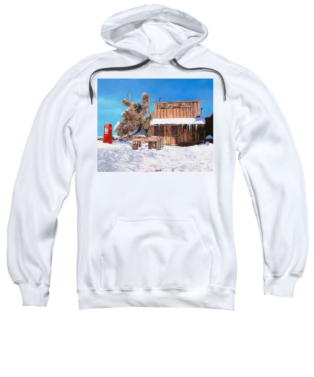 Gold Sweatshirt featuring the painting Goldpoint-nevada by Guido Borelli