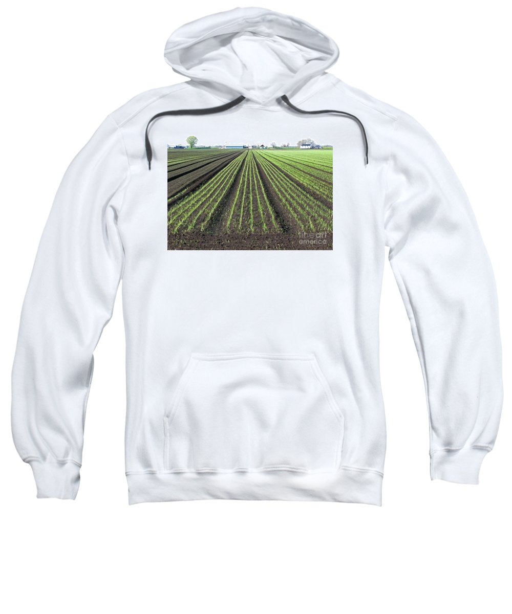 Farm Sweatshirt featuring the photograph Good Earth by Ann Horn