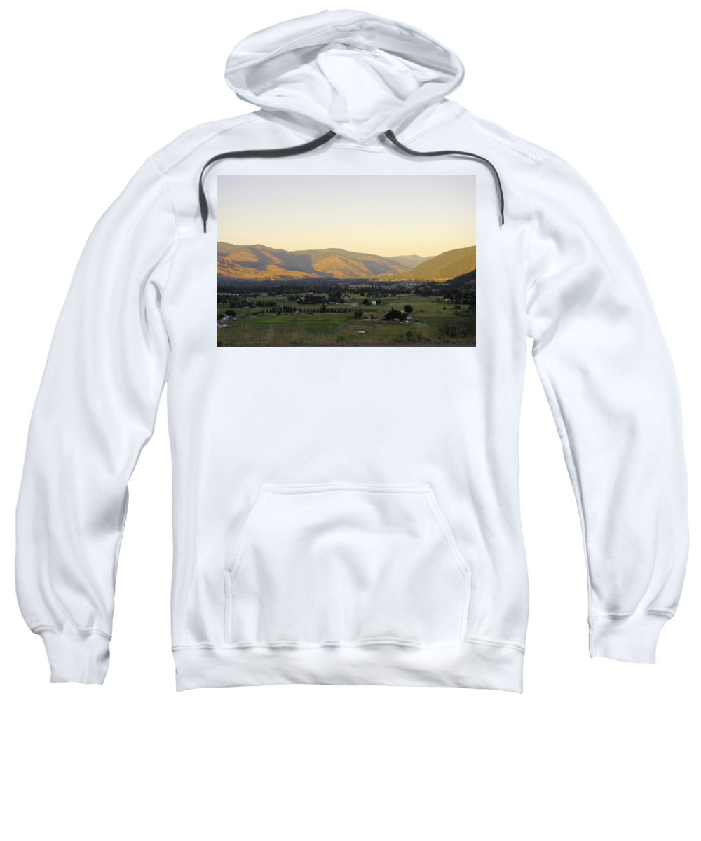 Grand Forks Sweatshirt featuring the photograph Grand Forks View From The West by John Greaves