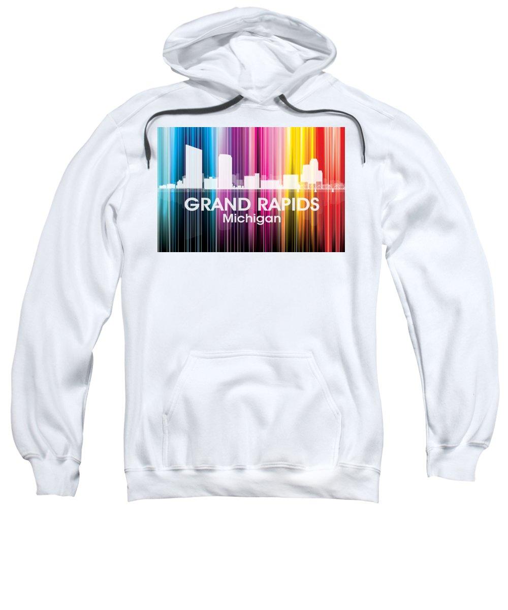 Grand Rapids Sweatshirt featuring the mixed media Grand Rapids Mi 2 by Angelina Vick
